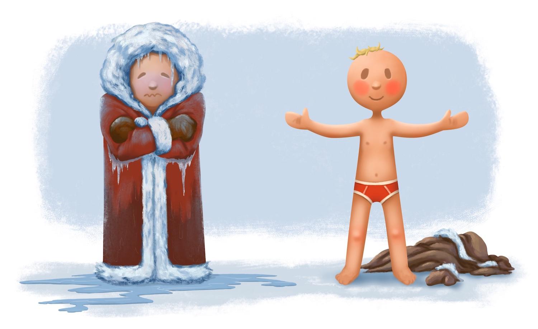 se încălzește căldura sau frigul rece
